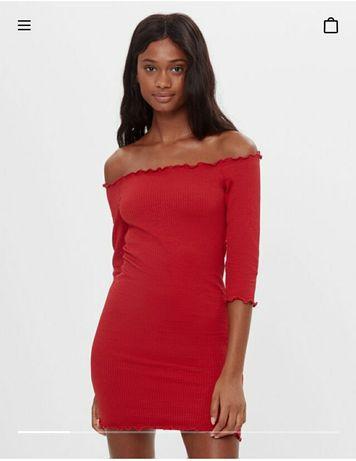 Новое красное Платье Bershka