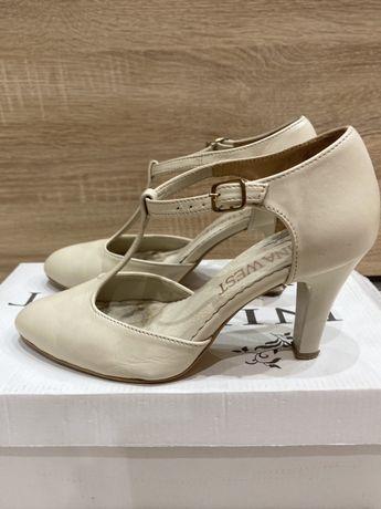 Skórzane buty ślubne
