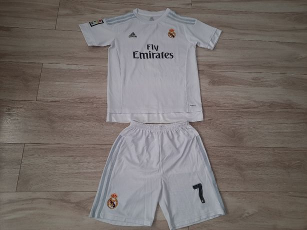 Koszulka spodenki Adidas Ronaldo Real Madryt, wzr. 150-160, 14-15 lat
