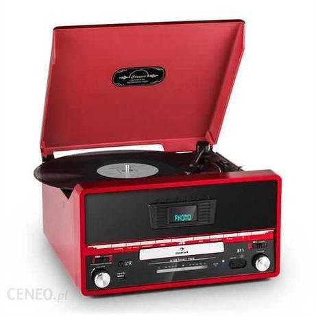 Auna RTT 1922 Gramofon w stylu retro CD/USB/FM/AUX