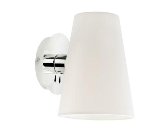 Lampa kinkiet chrom + biały materiał tekstylny Kanlux 24000