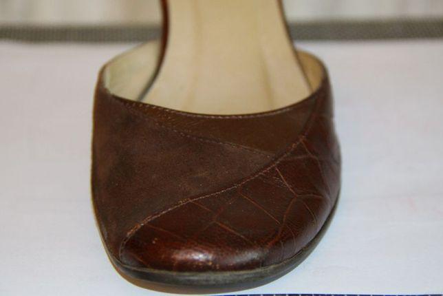 Buty na obcasie skóra RYŁKO 36- 15zł