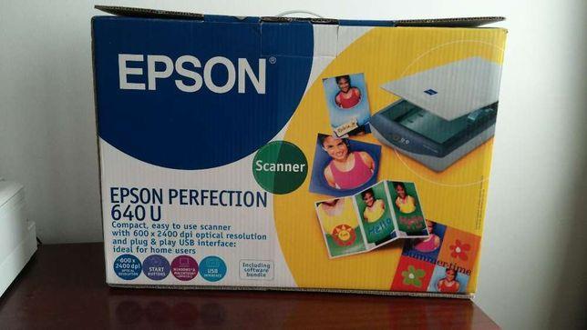 Scanner EPSON PERFECTION 640 U (Pouco uso, COMO NOVO, na caixa)