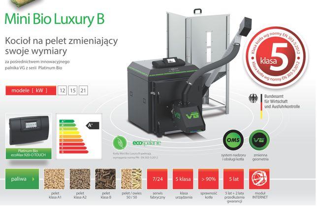 KOSTRZEWA Mini Bio Luxury B12 kW kocioł, piec na pellet