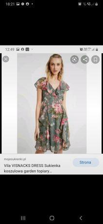 Sukienka zwiewna w kwiaty