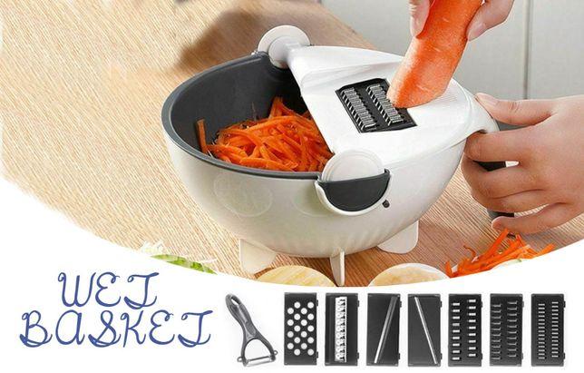 Овощерезка мультислайсер 9 в 1 терка для овощей с миской дуршлаг