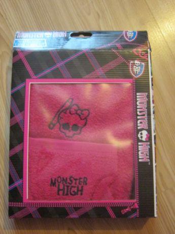 Ręcznik dziecięcy 50x90 cm Monster High + myjka