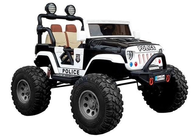 Auto na akumulator DWUOSOBOWY JEEP policje do 60kg 4x4