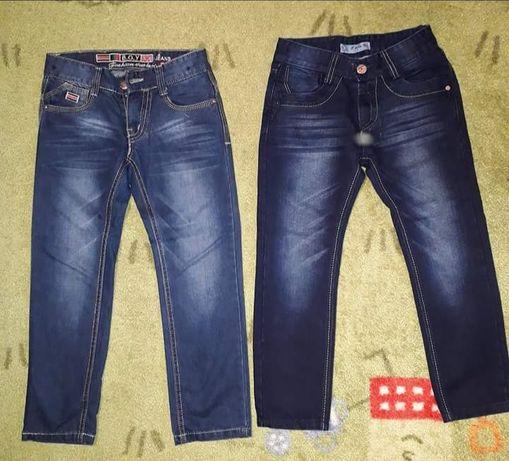 Spodnie chłopięce 2 szt. r 128 jeansy