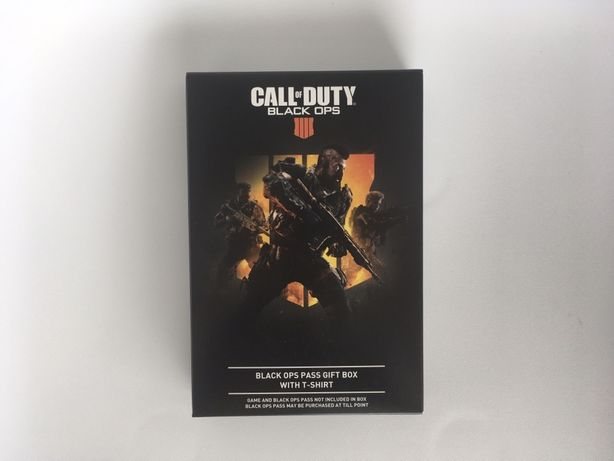 T-Shirt Call of Duty: Black Ops 4 + código DLC - NOVA