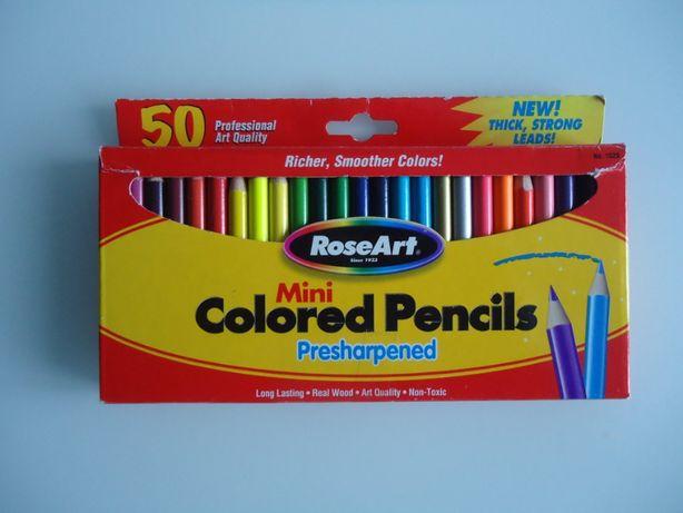 Карандаши цветные ROSE ART, USA 50шт!