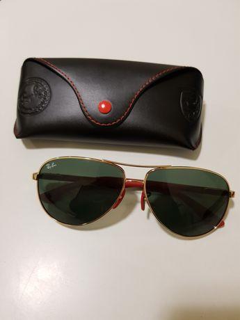 Óculos de Sol Aviador Ray Ban Ferrari RB8313M Dourado NOVOS coleção lt