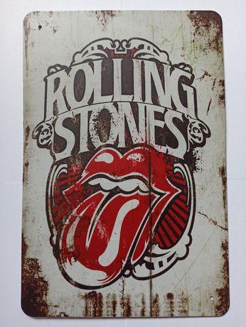 Nowy metalowy szyld Rolling Stones tabliczka plakat logo loft