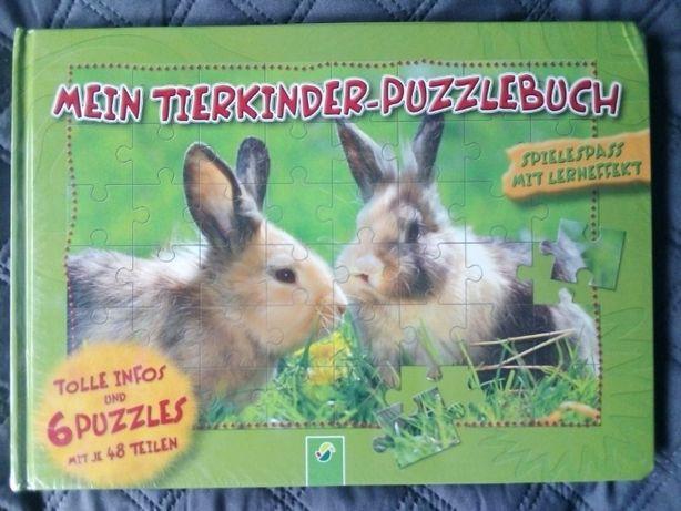 Książka z puzzlami w języku niemieckim