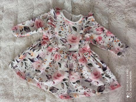 Sukieneczka w kwiaty cudo 68/74