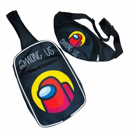 Набір рюкзак міні ( сумка через плече ) і Бананка Амонг ас аз among us