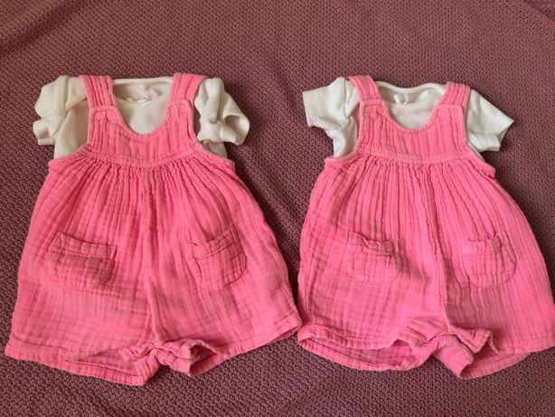 Ubranka dla bliźniaczek r. 56
