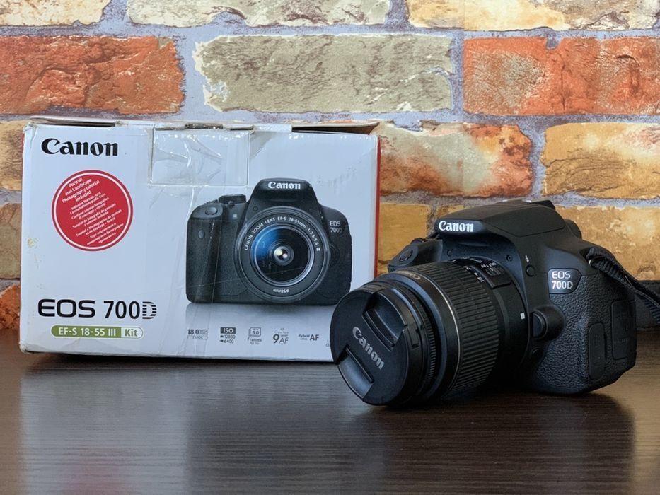 Зеркальный фотоаппарат Canon EOS 700D Kit 18-55 Пробег 7тыс Николаев - изображение 1