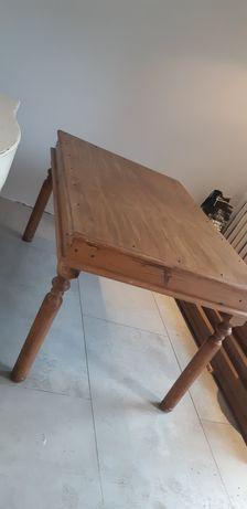 Stół drewniany lite drewno z okuciami
