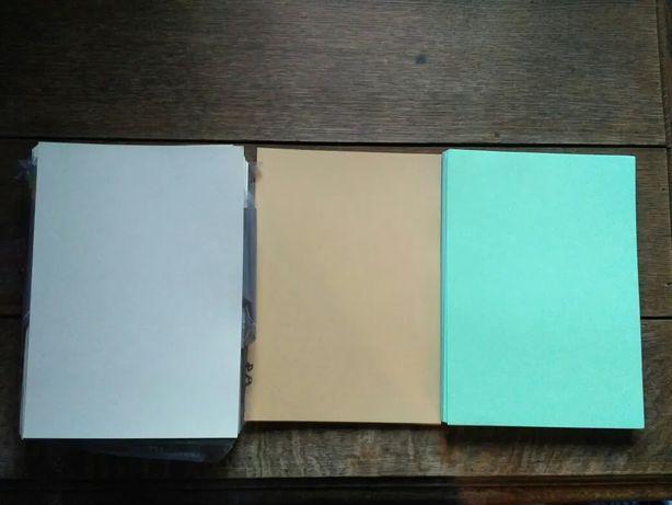 kolorowy papier ksero grubość 160g i 80g ecru, sepia i zieleń