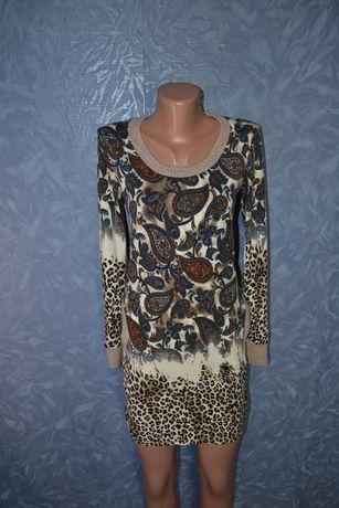 Женское принтованное платье тигровое