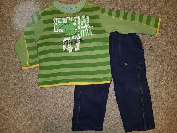 Paka ubrań dla chłopca 98 zestaw dres bluza