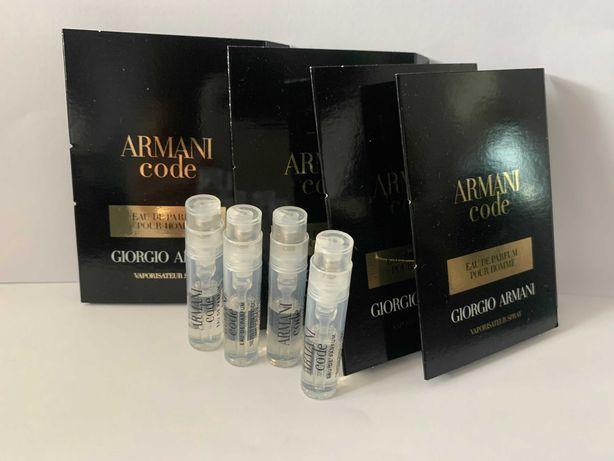 4,8 ml Armani code eau de parfum pour homme 1,2 ml x 4 sztuk ZESTAW
