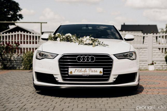 Zawiozę do ślubu AUDI A6 C7 / auto samochód biały
