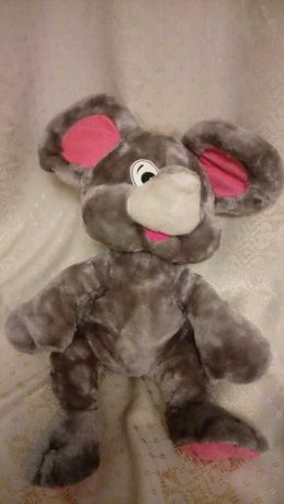 Классная мягкая большая мышка - игрушка обнимашка.