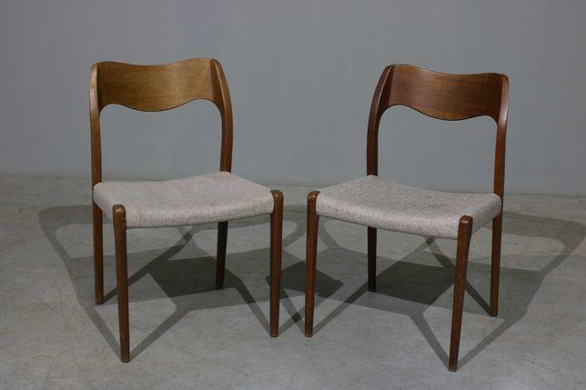 NOVIDADES   Conjunto de duas cadeiras Niels O. Moller em teca