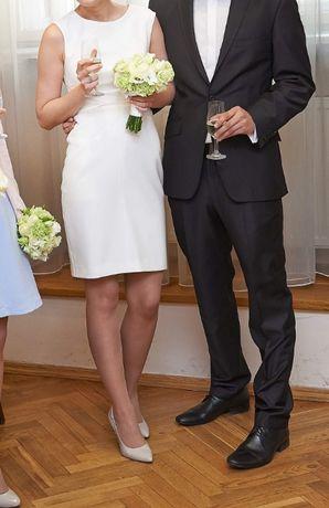 krótka suknia ślubna, Anna Kara, xs, 34, odkryte plecy