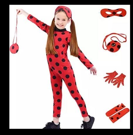 Костюм Парик леди баг Ladybug карнавальные на девочку 5-10лет 120-140