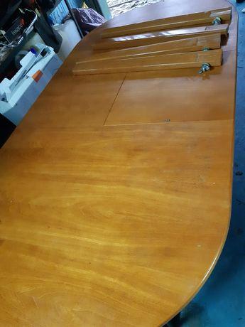 Stół rozkładany drewniany owalny
