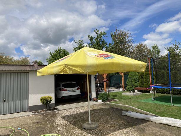 Parasol ogrodowy firmowy z podstawą 3x3