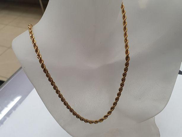 Piękny złoty łańcuszek/ 750/ 8.9 gram/ 46cm/ damski / męski/ Gdynia