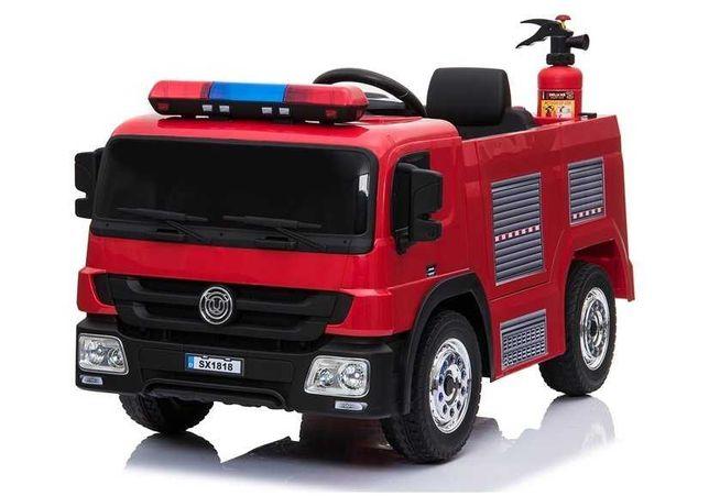 Wóz Strażacki Straż Pożarna Pojazd na akumulator dla dzieci +AKCESORIA