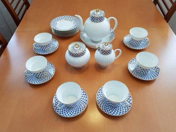 Łomonosow - rosyjska porcelana - serwis kawowy