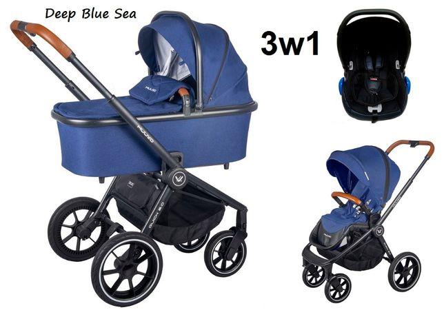 Wózek wielofunkcyjny Muuvo Quick 2.0 + fotelik (3w1) 3 kolory NOWOŚĆ