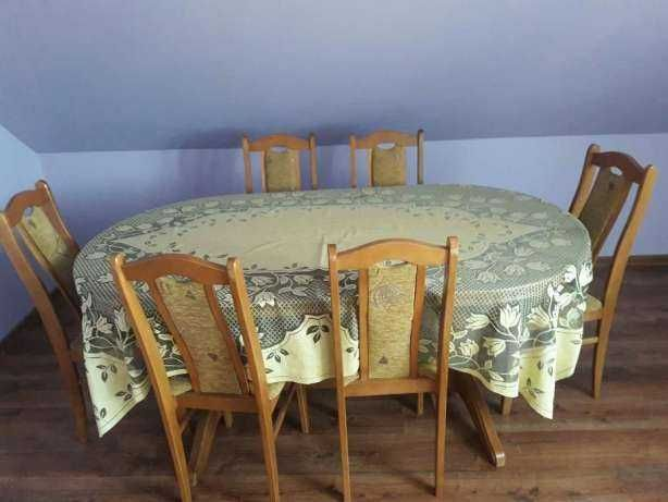 stół dębowy,krzesła