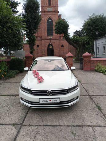 Auto do ślubu biały Passat B8