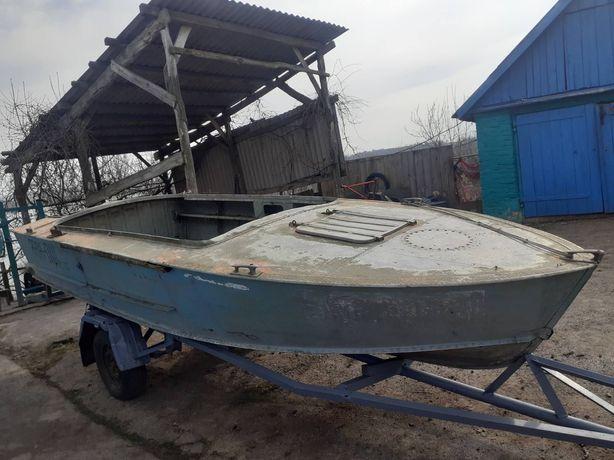Лодка ПРОГРЕСС вместе с лафетом