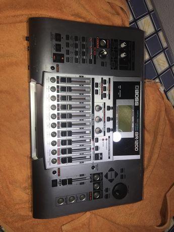 Mesa de mistura Boss digital recording studio br 1200