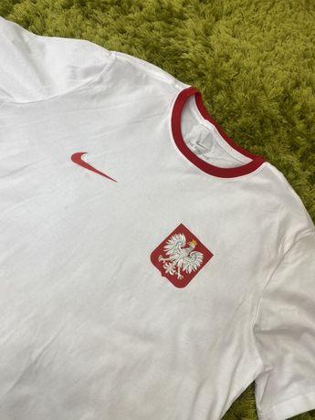 Koszulka Męska Nike rozmiar L Biała Polska