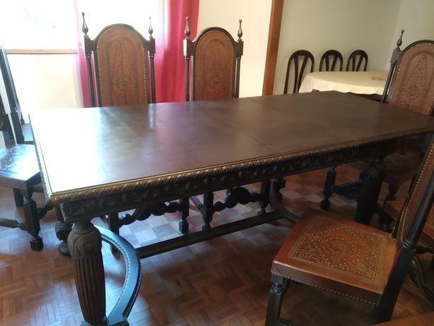 mesa 2,1m + 10 cadeiras