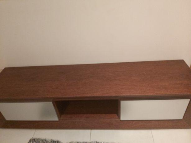 Vendo movel Tv e mesa de centro em Madeira sucupira e lacado cinza