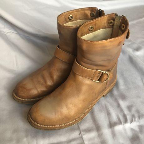 Ботинки полусапоги кожаные Brunello Cucinelli