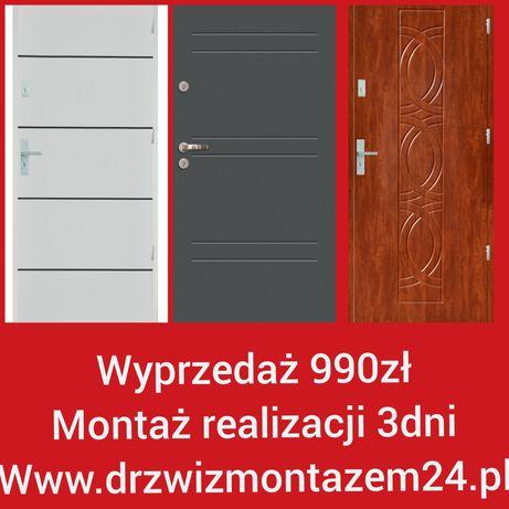 Wyprzedaż 990zł drzwi z montażem Wrocław