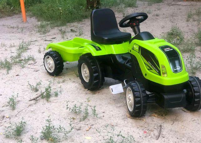 Оригинал! Трактор педальный с прицепом, на педалях, цепной