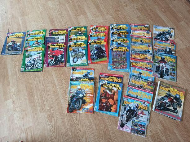 Świat motocykli 1997 - 2007 36 szt czasopismo motocyklista