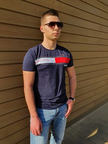 Granatowa koszulka Redlife